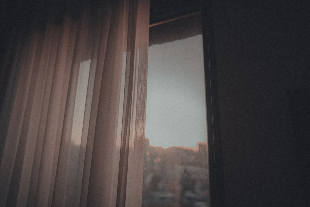 A view of a curtain